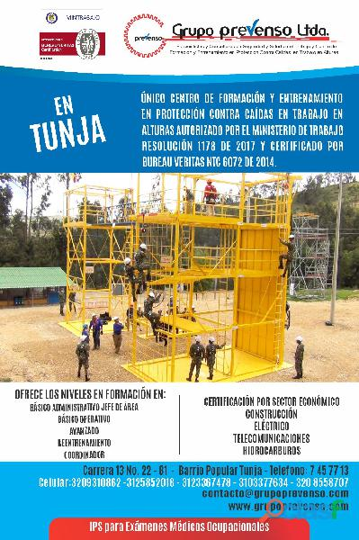 CURSOS DE TRABAJO EN ALTURAS TUNJA   BOYACA 0