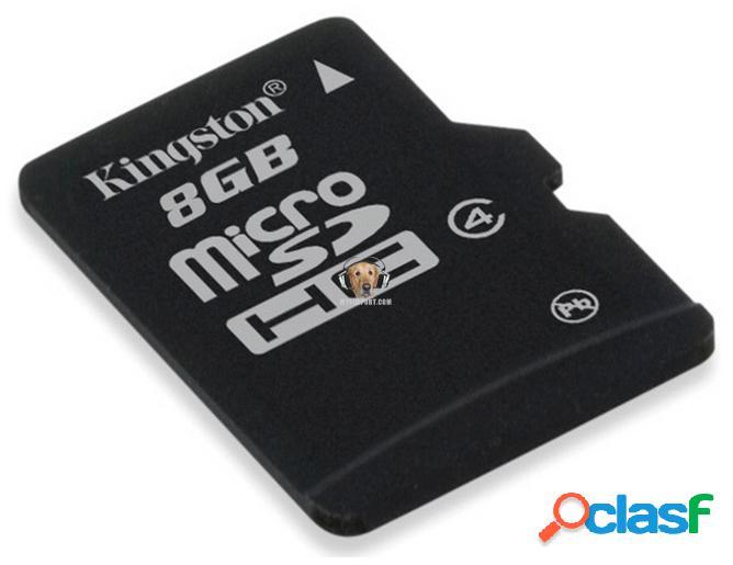 Memoria Micro SD-HC de 8GB Kingston 0