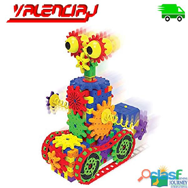 JUGUETE THE LEARNING JOURNEY ROBOT DIZZY DROID 60+ PIEZAS DE ENGRANAJES MOVILES EDUCATIVO 1