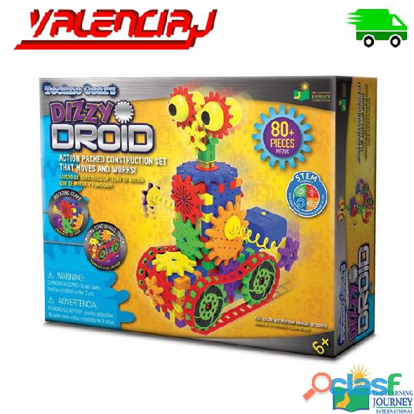 JUGUETE THE LEARNING JOURNEY ROBOT DIZZY DROID 60+ PIEZAS DE ENGRANAJES MOVILES EDUCATIVO 2