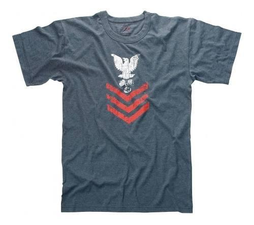 Camiseta Rothco Estampada Vintage Naval Rank En Remate 0