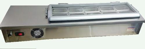 Topinera Refrigerada Barra Para Toping 0