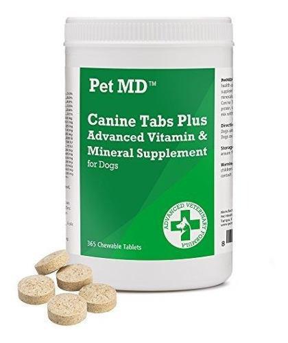 Pet Md Canine Tabs Plus 365 Count Multivitaminas Avanzadas P 0