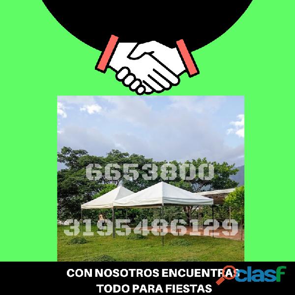 Alquiler de carpas tipo normal Piedecuesta 3195486129 6653800 0