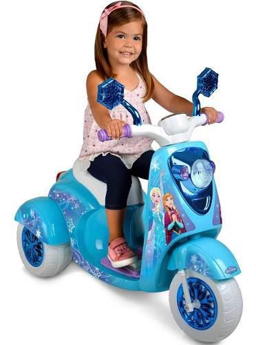 Disney Frozen Scooter Patineta Electrica Niñas 3 Ruedas 6v 0