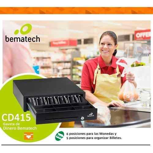 Cajón Monedero Bematech 5 Billetes 6 Monedas 100% Metalico 0