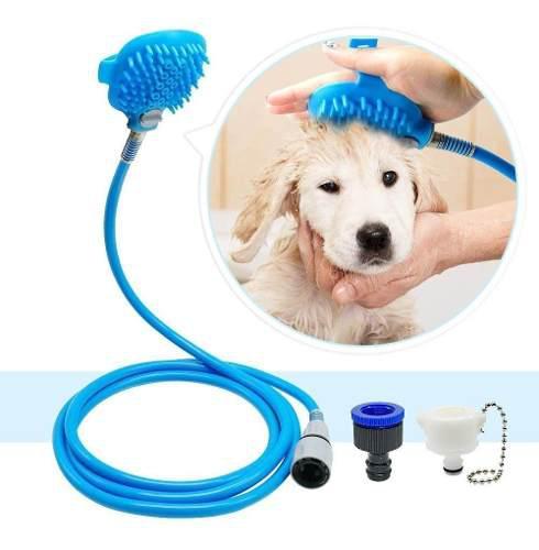 Ducha Regadera De Mano Para Mascotas Perros Cepillo Mnr 0