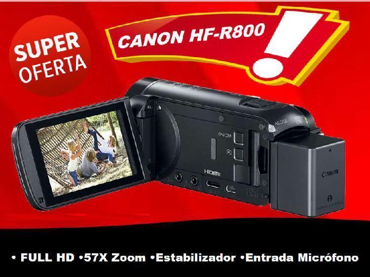 Camara FILMADORA CANON HFR800 Video FULL HD con entrada para 0