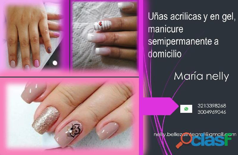 Manicure a domicilio uñas en acrilico bogota