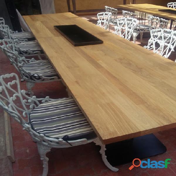 Mesas en madera para jardin, terrazas, piscinas,