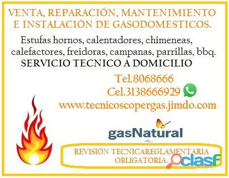 Chimeneas a gas, prácticas y decorativas, fácil instalación.Línea de atención.068666)