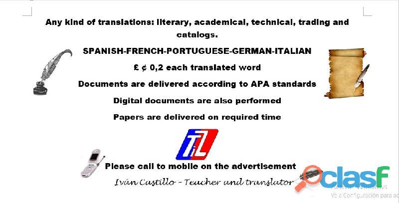 Interpréte y traducciones de todo texto en Valledupar