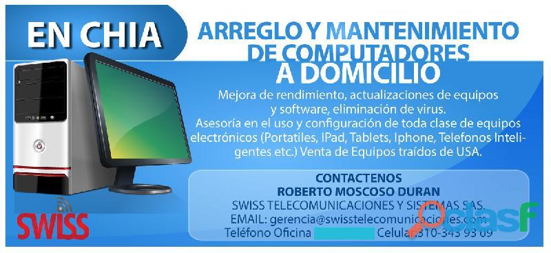 MANTENIMIENTO COMPUTADORES DOMICILIO EN CHIA BOGOTA