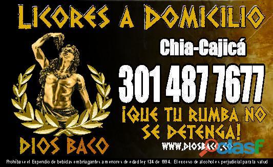 LICORERA A DOMICILIO NOCTURNO EN CAJICA Y CHIA. 24 HORAS 3014877677