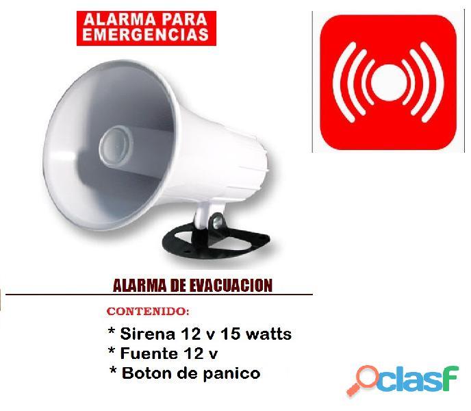 ALARMAS DE EVACUACION ALAMBRICA INSTALADA 189.000 cel 3204476645