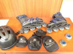 Patines kit de proteccion para niño semiprofesionales