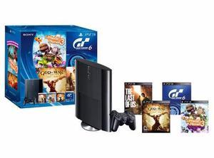 Consola ps3 500gb + 4 juegos fisicos nueva sellada