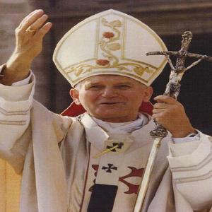 Estatuilla o reliquia religiosa del papa juan pablo ii -