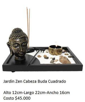 Jardin Zen Cabeza Buda Cuadrado - Yumbo