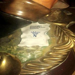 Porcelana el bohemio capo di monti original contramarcada -