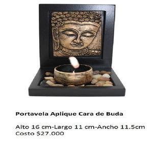 Portavela Aplique Cara Buda - Yumbo