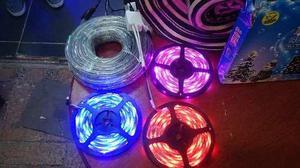 Cinta led color tira rollo luz 5 mts control adhesiva 12v
