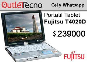 Portátil tablet fujitsu t4020d 1.72ghz 2gb ddr2 80gb lector