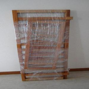Barandas en cedro color natural para cama de niño usadas -