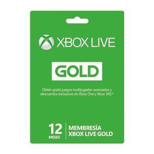 Tarjeta xbox live 12 meses gold