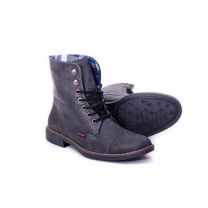 Botas para hombre en cuero borcegas negro
