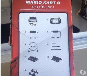 Nintendo wii u mariokart8 + super smash bros + mario tennis