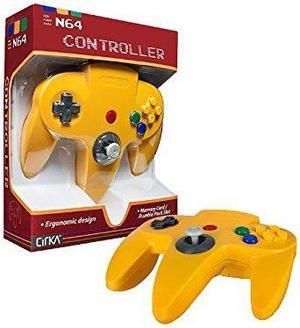 Controlador cirka n64 - amarillo