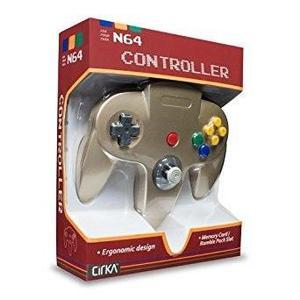 Controlador n64 cirka, oro - nintendo 64