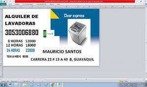 Alquiler de lavadoras - cali en Cali   ANUNCIOS febrero    42fbdb20d5b