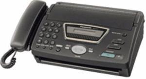 Telefono fax panasonic kx-ft77la-b
