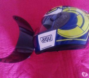 Casco agv k3, talla s, con visores transparente y azul