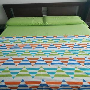 Cama en cedro de 1.20 con colchón pillow - bucaramanga
