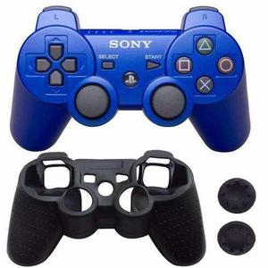 Control playstation 3 ps3 dualshock azul + regalos