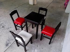 Juegos de mesa para bar o restaurante 4 sillas una mesa -