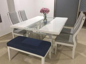 Juego comedor sillas moderno anuncios julio clasf for Juego de comedor de 8 sillas moderno