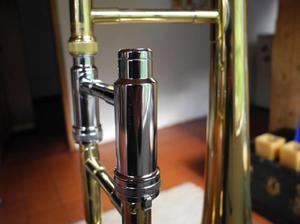 Trombon de varas tenor besson ingles, con estuche, boquilla