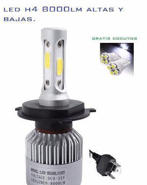 Bombillo hid led moto o carro 8000 lm h4 hi/low + garantia