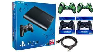 Playstation 3 de 500gb super slim combo 55x1 *stargus