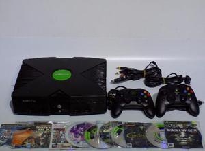 Xbox clasico completo 2 controles 10 juegos,funcion emulador