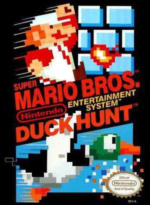 Super mario bros / duck hunt 2en 1 nes nintendo colecc 1985