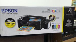 Impresora multifuncional epson l380 con sistema tinta