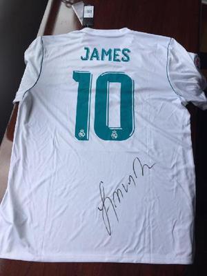 Camisa realmadrid firmada jamesrodriguez - medellín