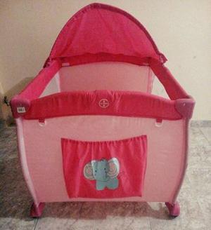 Corral para bebe, incluye toldillo, cambiador y dos formas