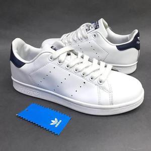 Tenis zapatillas adidas stan smith blanca azul hombre envio