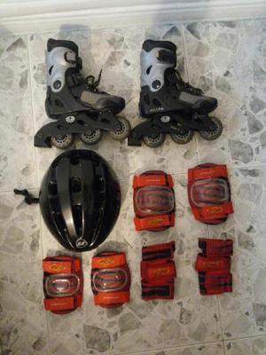 Combo patines, casco y protectores - bogotá